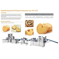 Pastry butterfly biscuit Processing Machinery/puff pastry Production Line