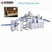 Automatic Three Layer pastry production line for filling bun/snack/pancake/crisp