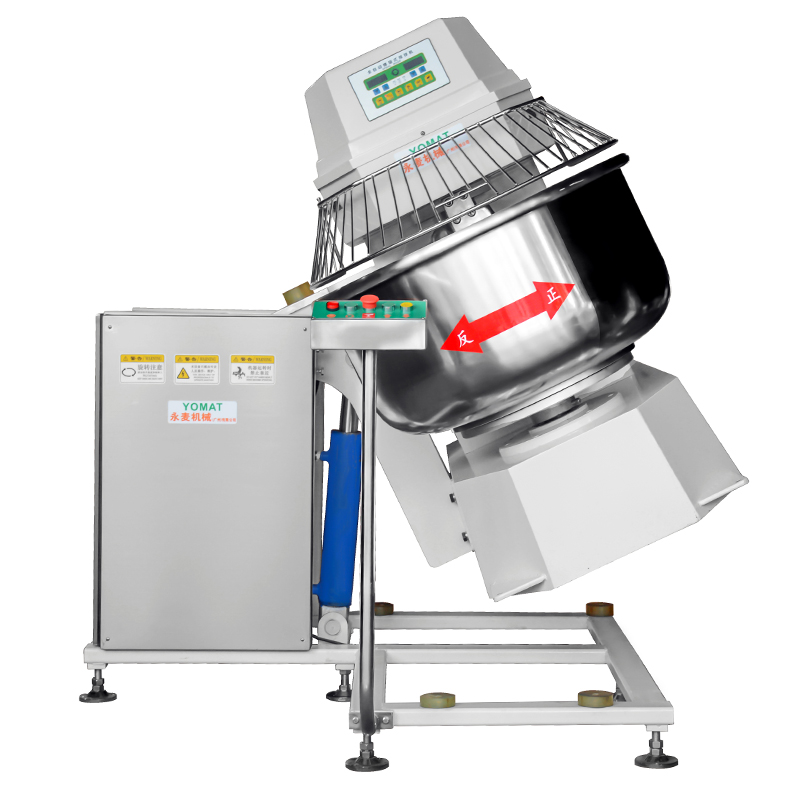 Heavy Duty Turn over formula Double acting double speed Dough Spiral Mixer 100KG Dough mixer YMF-100