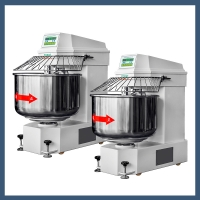Heavy duty Double speed double action Dough Spiral Mixer 100Kg Dough mixer YMJ-100(Ordinary)