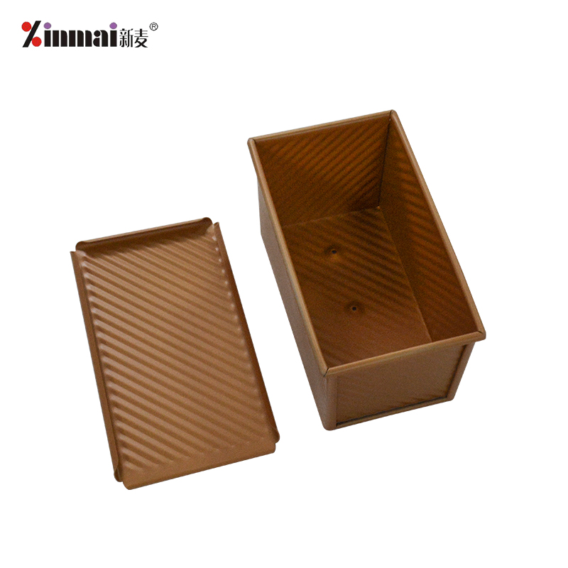 Gold Baking baking tray Mini Vienna Toast Box (Corrugated aluminum alloy, non-stick) XMC40012