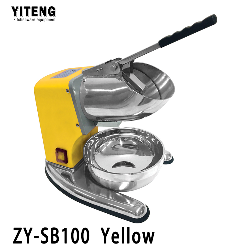 Good stuff bottom price all stainless steel commercial electric ice crusher ZY-SB100 Yellow