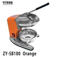 Good stuff bottom price all stainless steel commercial electric ice crusher ZY-SB100 Orange