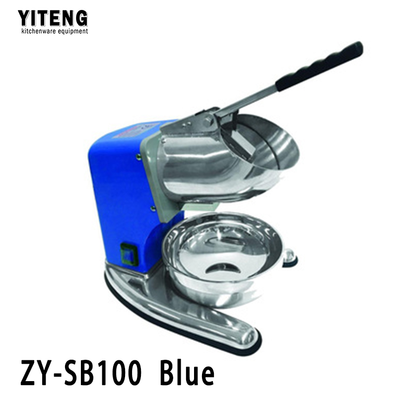 Good stuff bottom price all stainless steel commercial electric ice crusher ZY-SB100 Blue