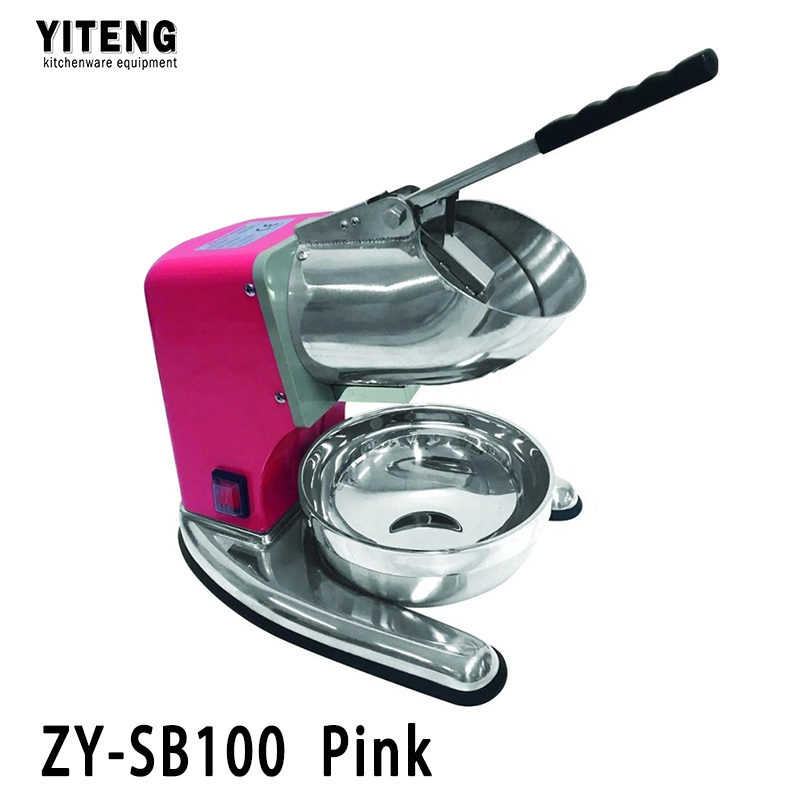 Good stuff bottom price all stainless steel commercial electric ice crusher ZY-SB100 Pink