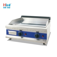 Hird HGT-600D efficient high quality Dual control Counter Top Gas Griddle