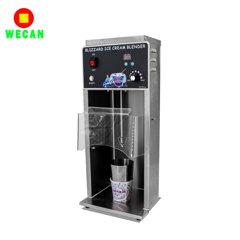 High grade Stainless steel body Blizzard ice cream special mixer WECAN202 plus