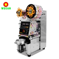 Full stainless steel Desktop automatic sealing machine / lunch box sealing machine caliber 95mm