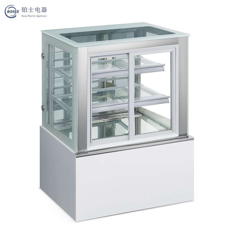 Bosee Jgzq-1800A Convenient and Durable Energy-Saving Right Angle Front Door Cake Cabinet