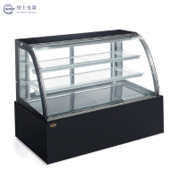 High-grade black no lamp belt Double arc rear door cake cabinet Display cabinet JGY-1500A