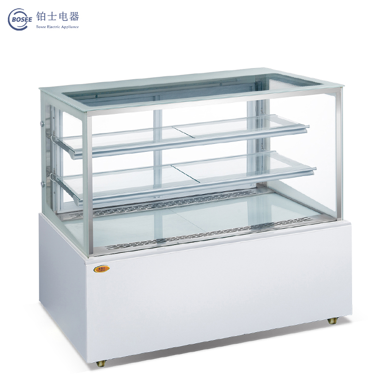 Bosee Jgz-1500A Spacious and Energy-Saving Right Angle Open Door Cake Cabinet