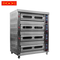 (GAS) Chubao KB-4- 16 4 layer 16 tray Customizable gas or electricity standard gas deck oven