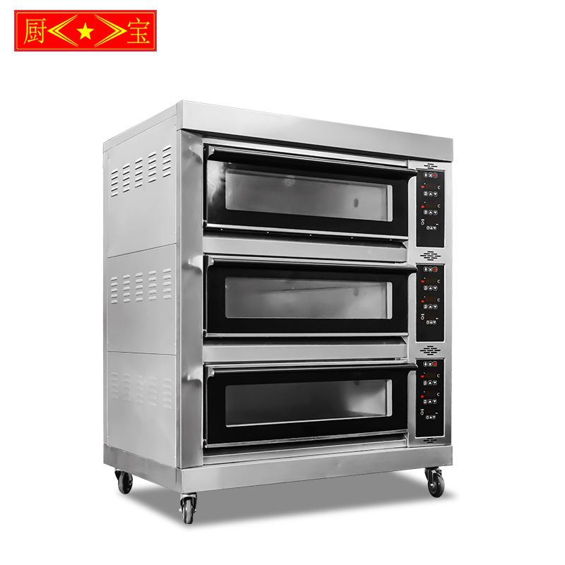 Chubao Ka-30 3 layer 6 tray Customizable gas or electricity standard gas intelligent deck oven