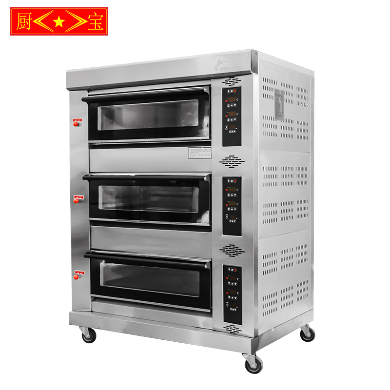 Chubao KB-30 3 layer 6 tray Customizable gas or electricity standard gas intelligent deck oven