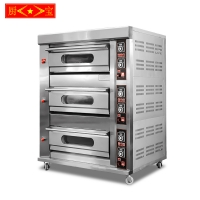 Chubao KB-30 3 layer 6 tray Customizable gas or electricity standard gas deck oven