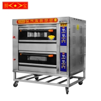 Chubao KB-20 2 layer 4 tray Customizable gas or electricity standard gas intelligent deck oven