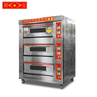 Chubao KB-30 3 layer 6 tray Customizable gas or electricity standard gas deck oven (B style)