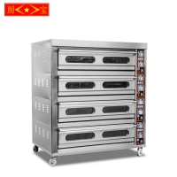 Chubao KA-4-16 high quality factory price Customizable gas or electricity deck oven