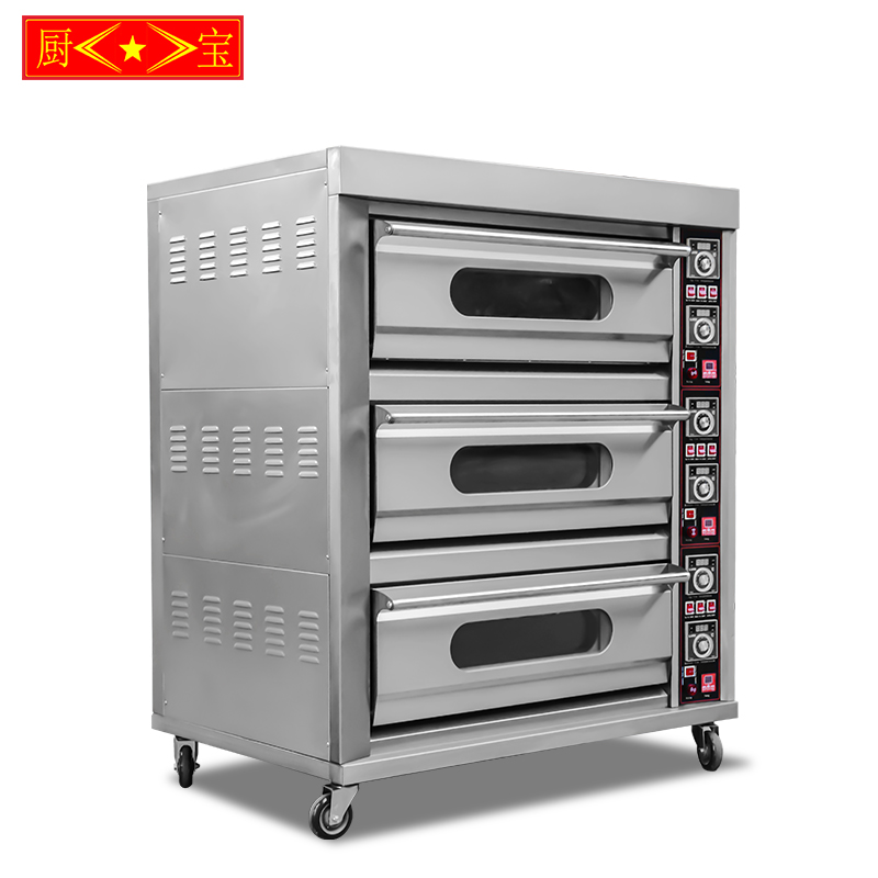 Chubao KA-30 Customizable gas or electricity 3 layer 6 tray high quality deck oven