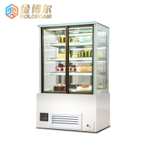 Right angle cake display cabinet Vertical cake display cabinet