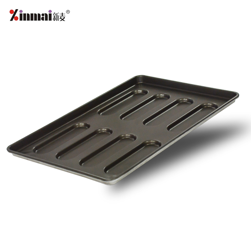 Factory direct sales 8 hot dog trays (aluminized plate) XINMAI Professional production 400*600*32mm
