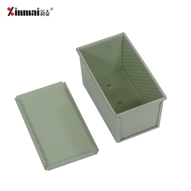 green Baking baking tray Mini Vienna Toast Box (Corrugated aluminum alloy, non-stick) XMC40012