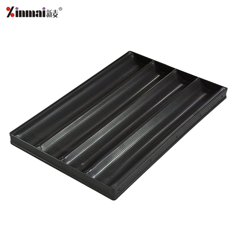 Aluminum alloy non-stick 4-slot French baking tray French baking tray / baking tray XMF20010