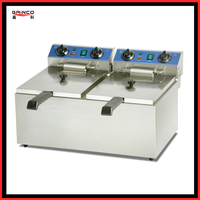 Double cylinder Stainless steel Fryer S/S 2-Tank Tank electric flyer EF-132