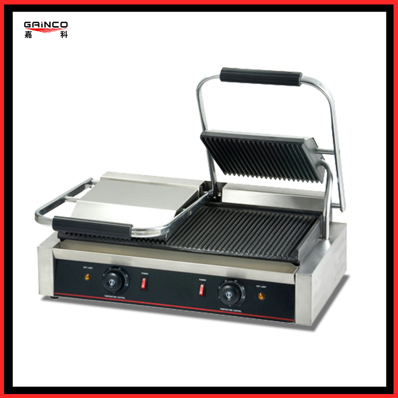 High grade Thicken stainless steel Panini contact grill EGD-20