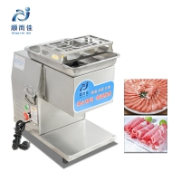 Powerful High efficiency Stainless steel table top meat slicer TQ400