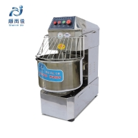 Beautiful appearance Full stainless steel Two-speed double action dough mixer  SSD80