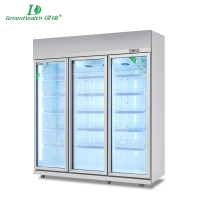 Vertical refrigerator freezer series Double Door Long Handle ShowcaseLG-1260L