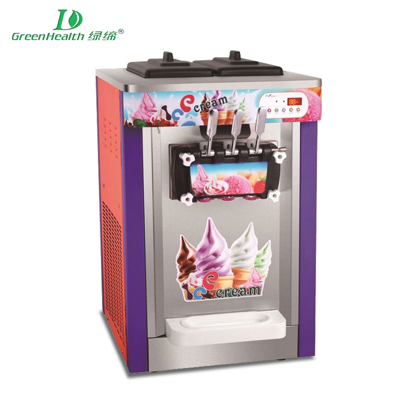 18L Single Flavor (Counter Top Type) Red paint ice cream machine desktop GHJ-18A